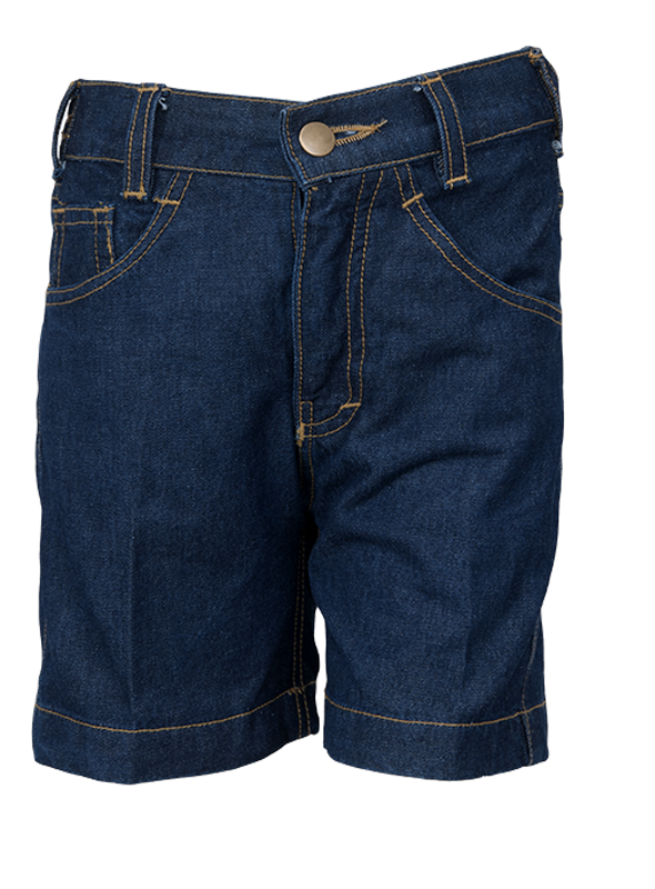 HALF ELASTIC DENIM SHORTS (1st-3rd STD)